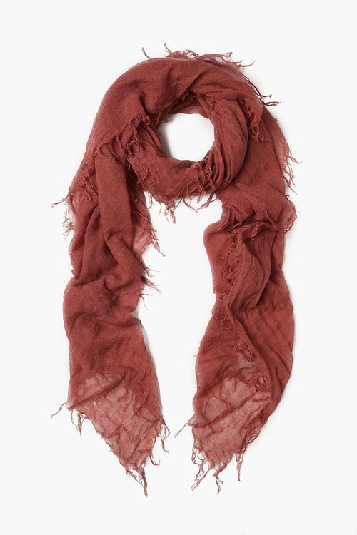 Marsala Cashmere and Silk Scarf