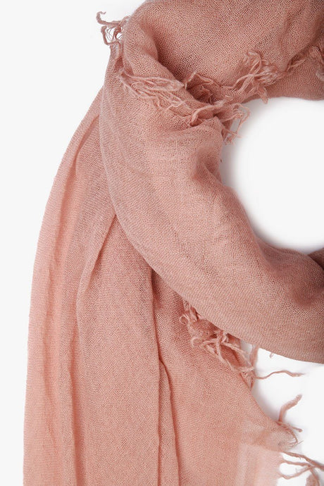 Adobe Rose Cashmere and Silk Scarf