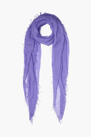 Aster Purple Cashmere And Silk Scarf