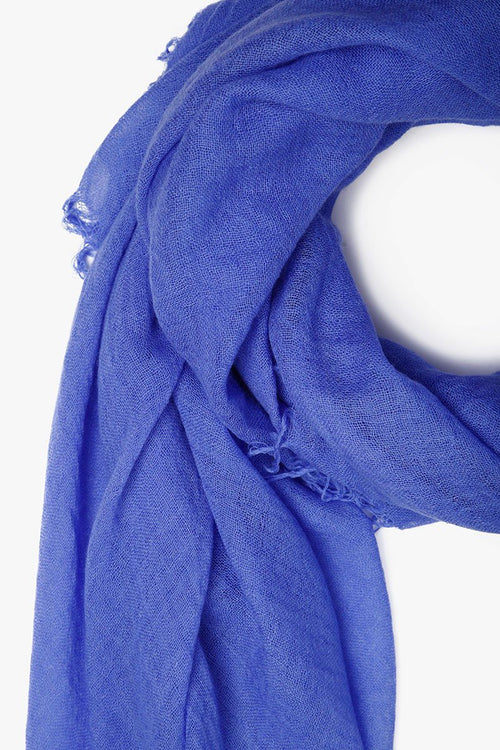 Baja Blue Cashmere and Silk Scarf