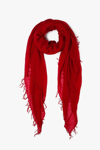 Biking Red Cashmere and Silk Scarf
