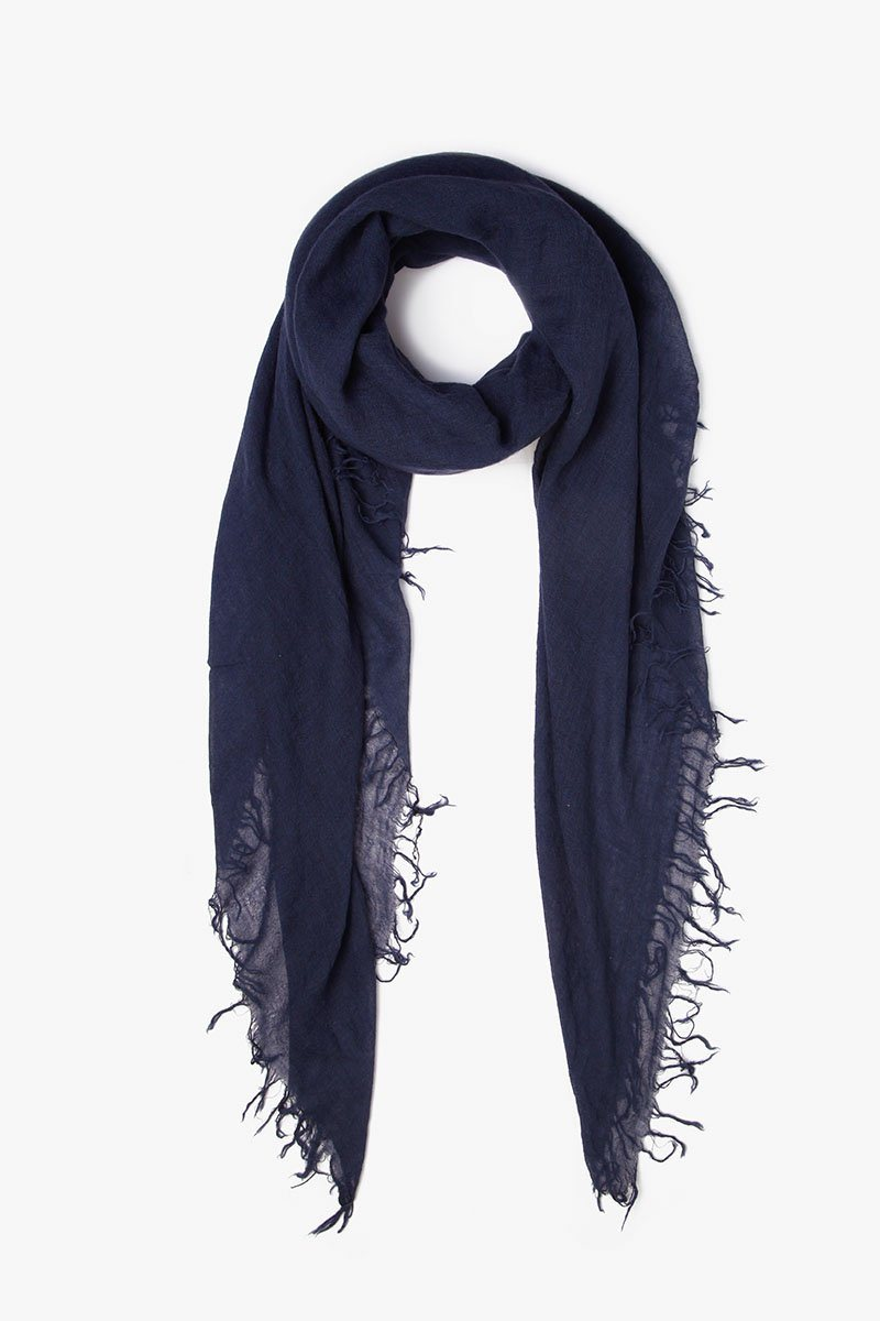 Blue Nights Cashmere and Silk Scarf