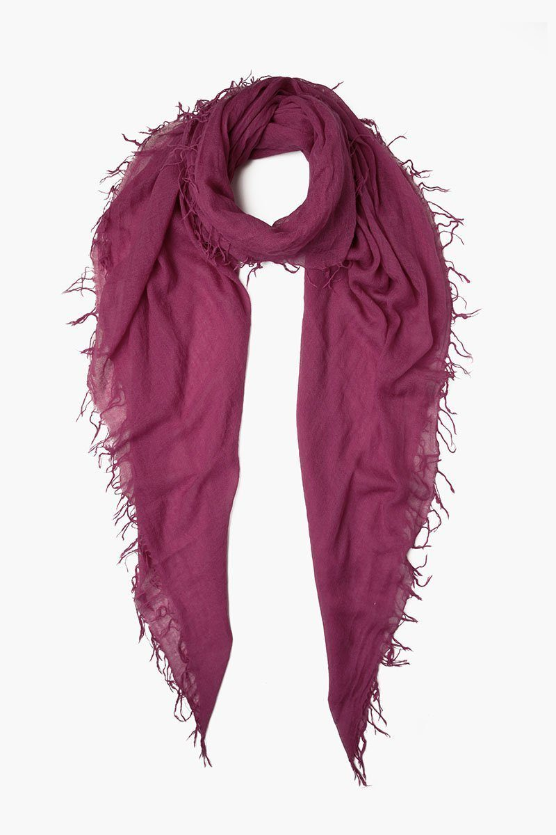Berry Jam Cashmere and Silk Scarf