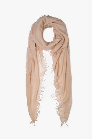 Doeskin Cashmere and Silk Scarf
