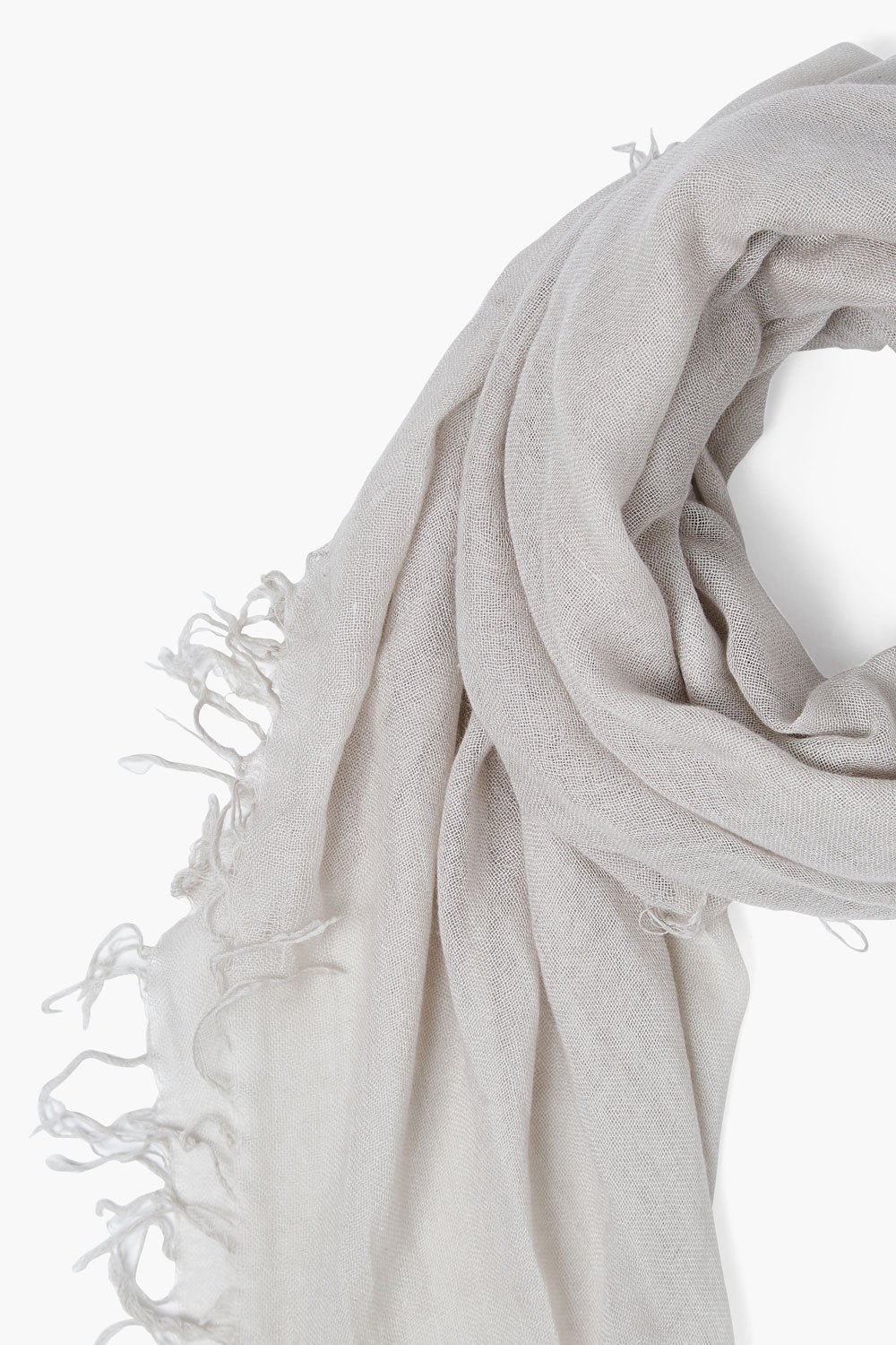 Dove Cashmere and Silk Scarf