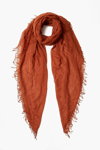 Gingerbread Cashmere and Silk Scarf