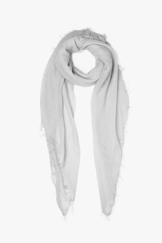 Glacier Grey Cashmere and Silk Scarf