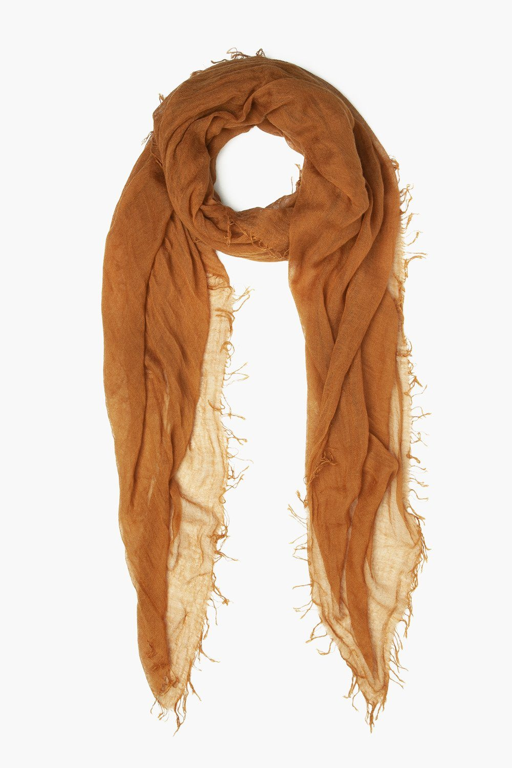 Glazed Ginger Cashmere And Silk Scarf