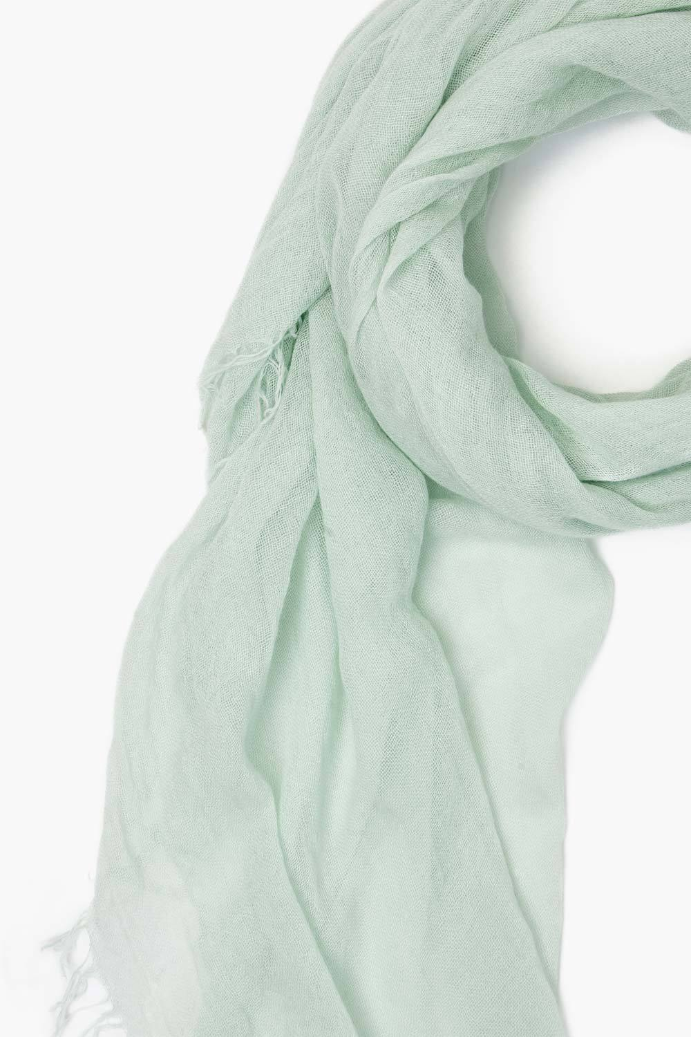 Green Lily Cashmere and Silk Scarf