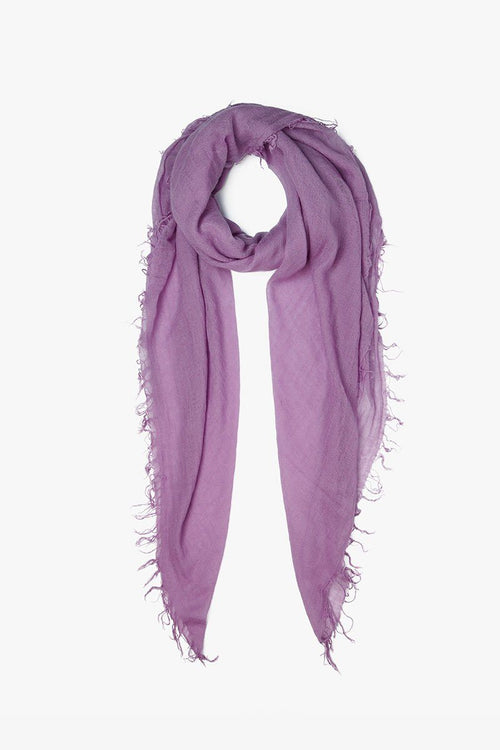 Light Purple Cashmere and Silk Scarf