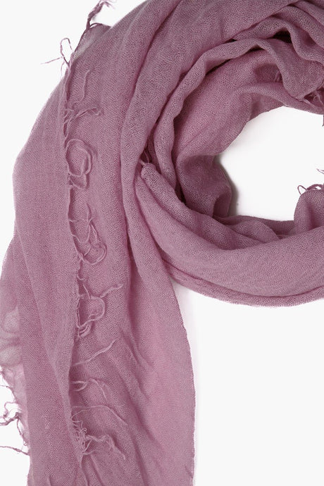 Lilas Cashmere and Silk Scarf