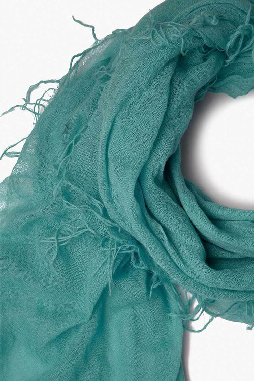 Mineral Sea Cashmere and Silk Scarf