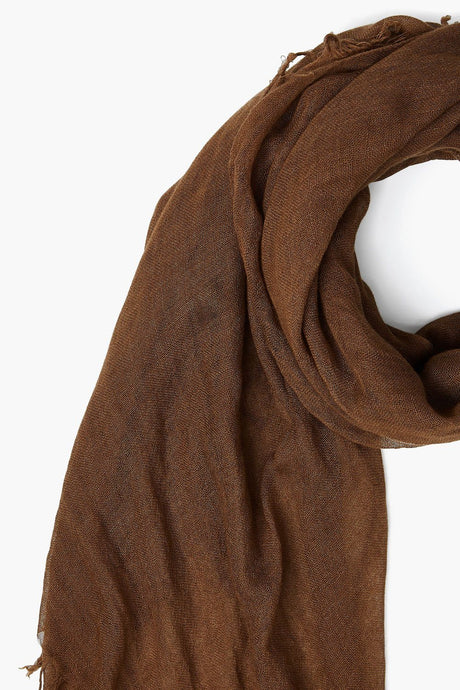 Sepia Cashmere and Silk Scarf