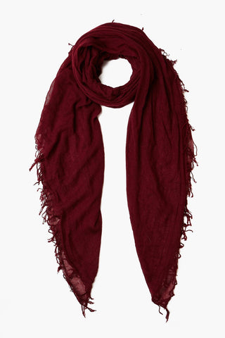 Spice Wine Cashmere and Silk Scarf