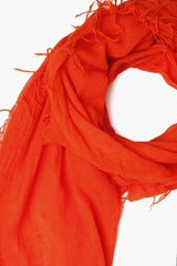 Tangerine Tango Cashmere and Silk Scarf