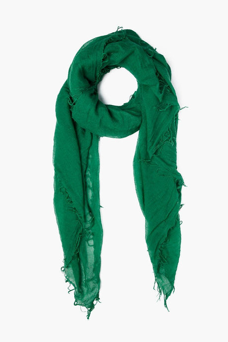 Verdant Green Cashmere and Silk Scarf