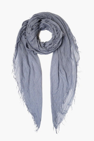 Lavender Fog Cashmere and Silk Scarf