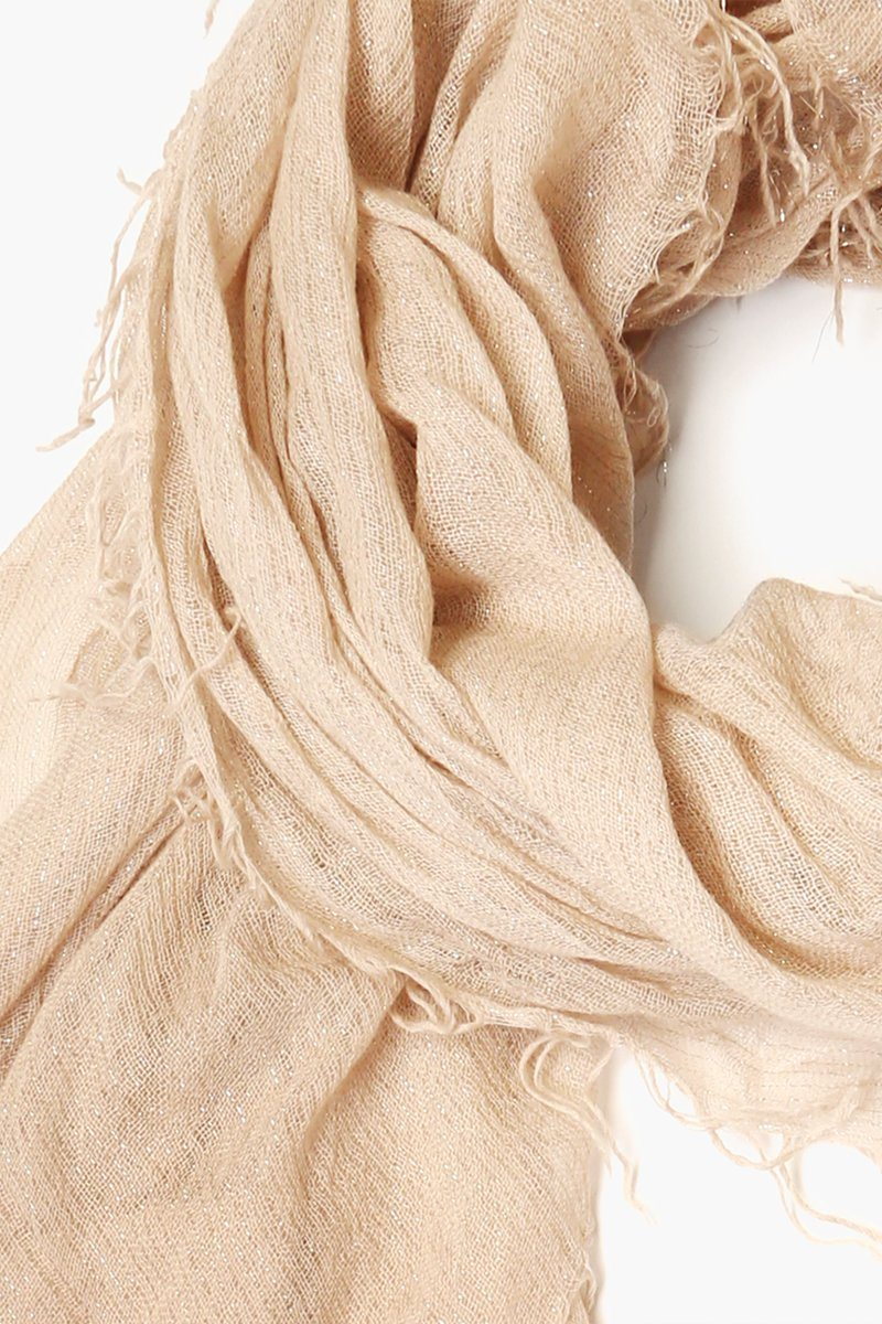 Doeskin Metallic Cashmere and Silk Scarf
