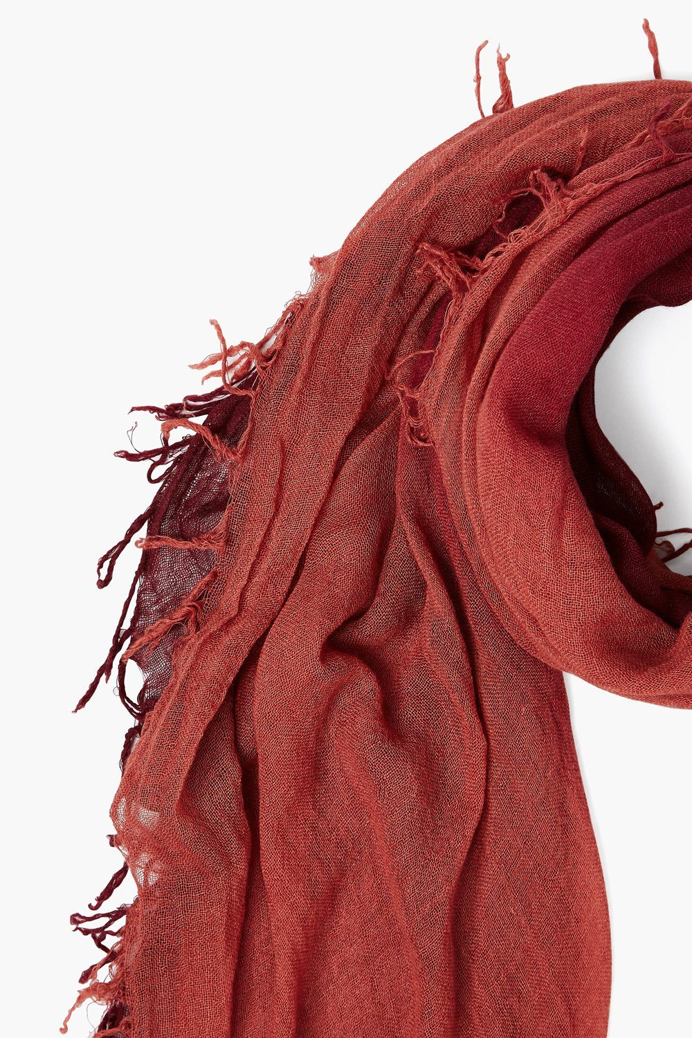 Tawny Port / Marsala Cashmere and Silk Scarf