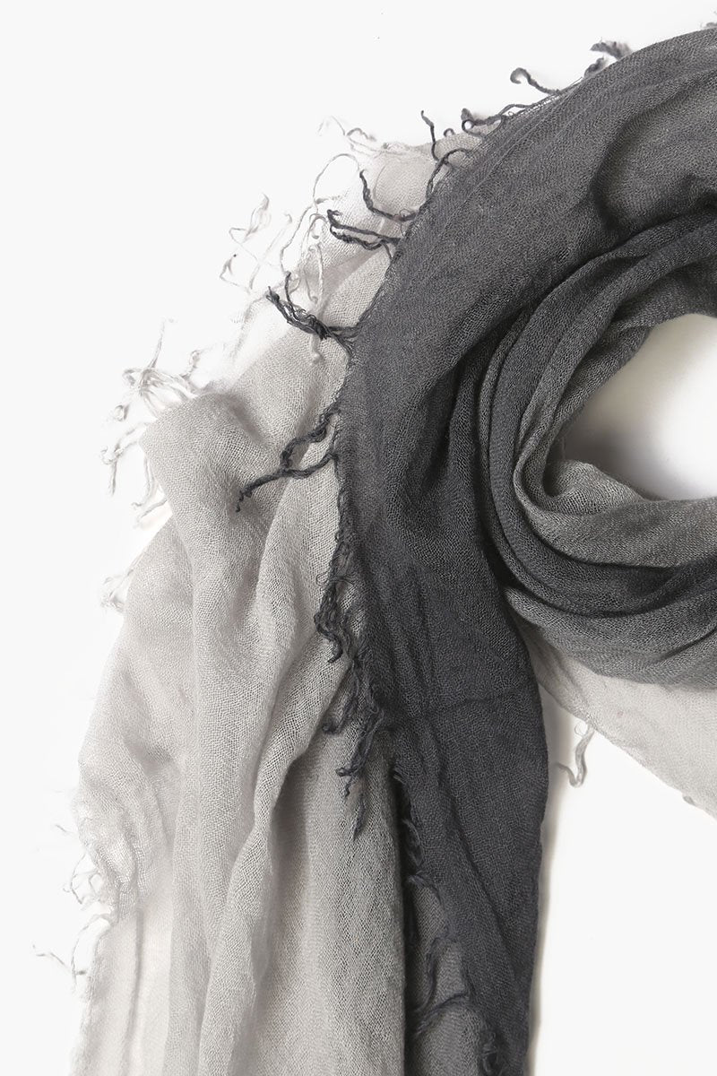 Ebony Harbor Mist Cashmere and Silk Scarf