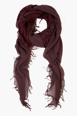 Huckleberry Fig Cashmere and Silk Scarf