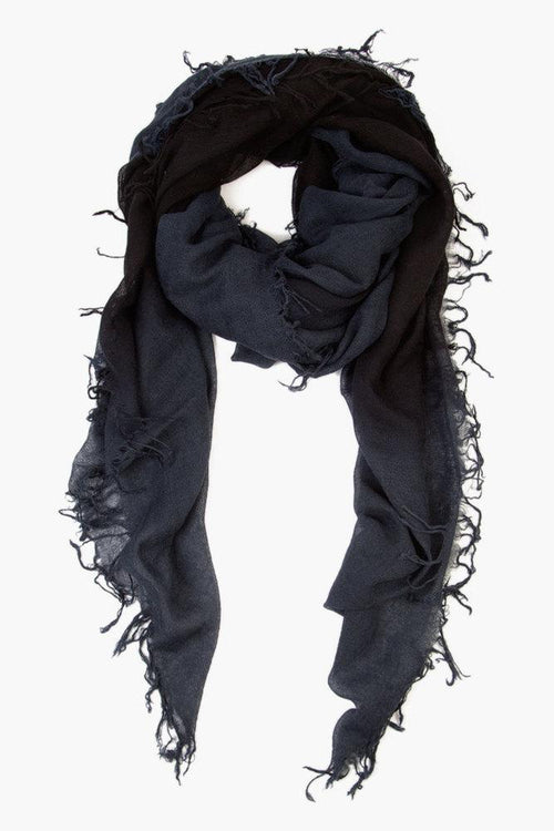 Total Eclipse Black Cashmere and Silk Scarf