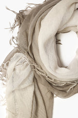 Walnut Lunar Rock Dip-Dyed Cashmere and Silk Scarf
