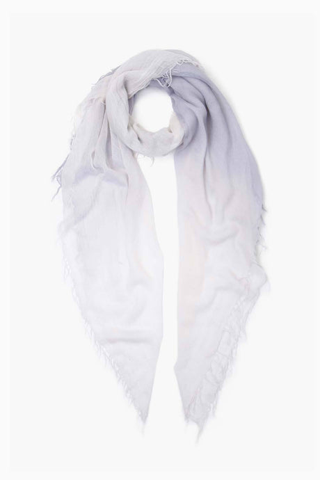 Dapple Gray Nimbus Cloud Dip-Dyed Cashmere and Silk Scarf