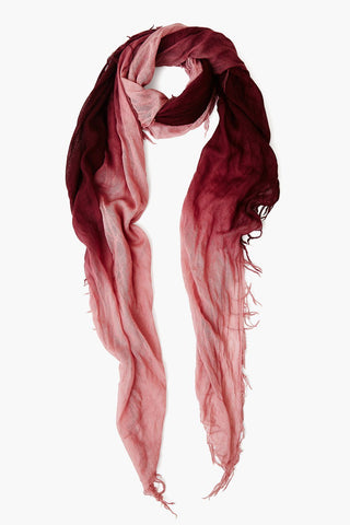Lilas / Fig Dip Dyed Cashmere and Silk Scarf