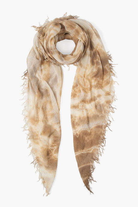 Brown Sugar Tie Dye Cashmere Silk Scarf