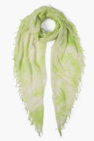 Lime Green Tie Dye Cashmere Silk Scarf