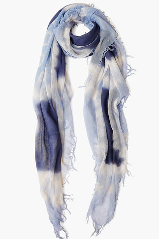 Grisaille / Dusty Blue Cashmere and Silk Scarf