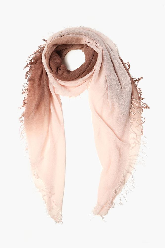 Nutmeg Mauve Chalk Shadow Dyed Cashmere and Silk Scarf