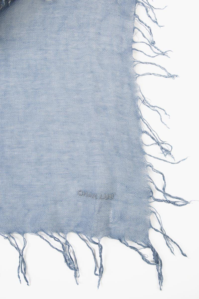 Flint Stone Block Tie-Dye Cashmere and Silk Scarf