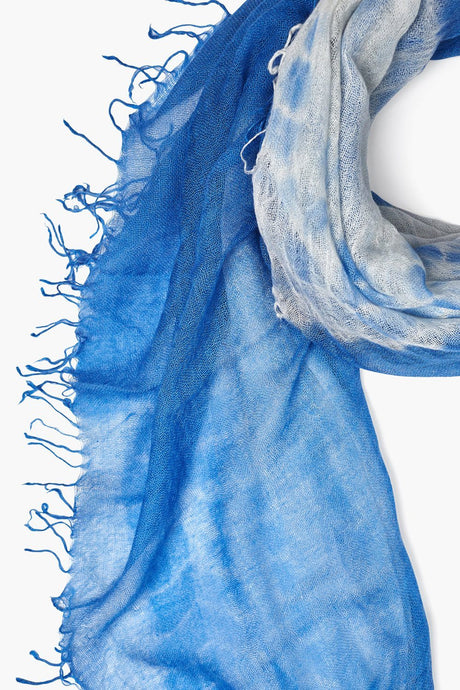 Riviera Tie-Dyed Cashmere and Silk Scarf
