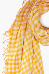 Arrowwood Gingham Cashmere and Silk Scarf