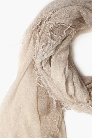 Crystal Etherea Dip-Dyed Metallic Cashmere and Silk Scarf