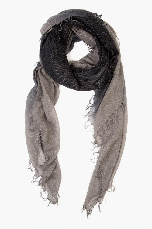 Eiffel Tower Black Cashmere and Silk Scarf