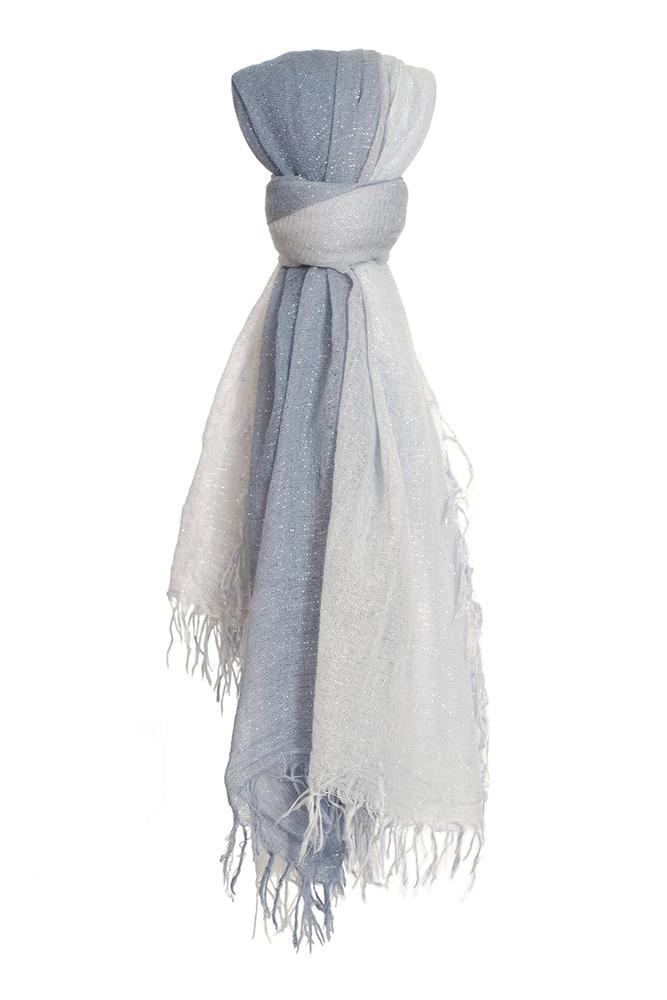 Heather Dip-Dyed Metallic Cashmere and Silk Scarf