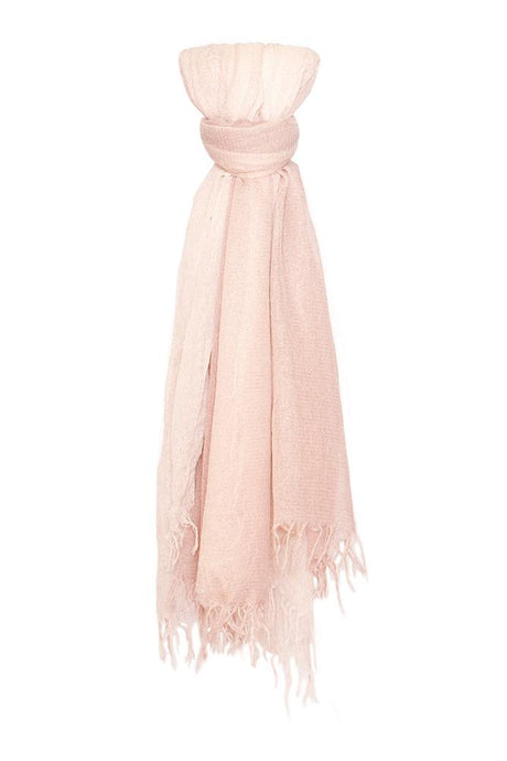 Mauve Rose Dip-Dyed Metallic Cashmere and Silk Scarf