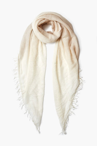 Doeskin / Seed Pearl Cashmere and Silk Scarf