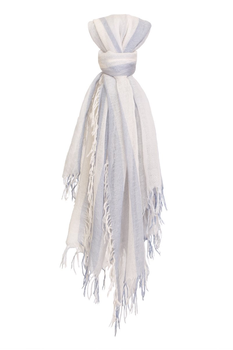 Stonewash Stripe Cashmere and Silk Scarf