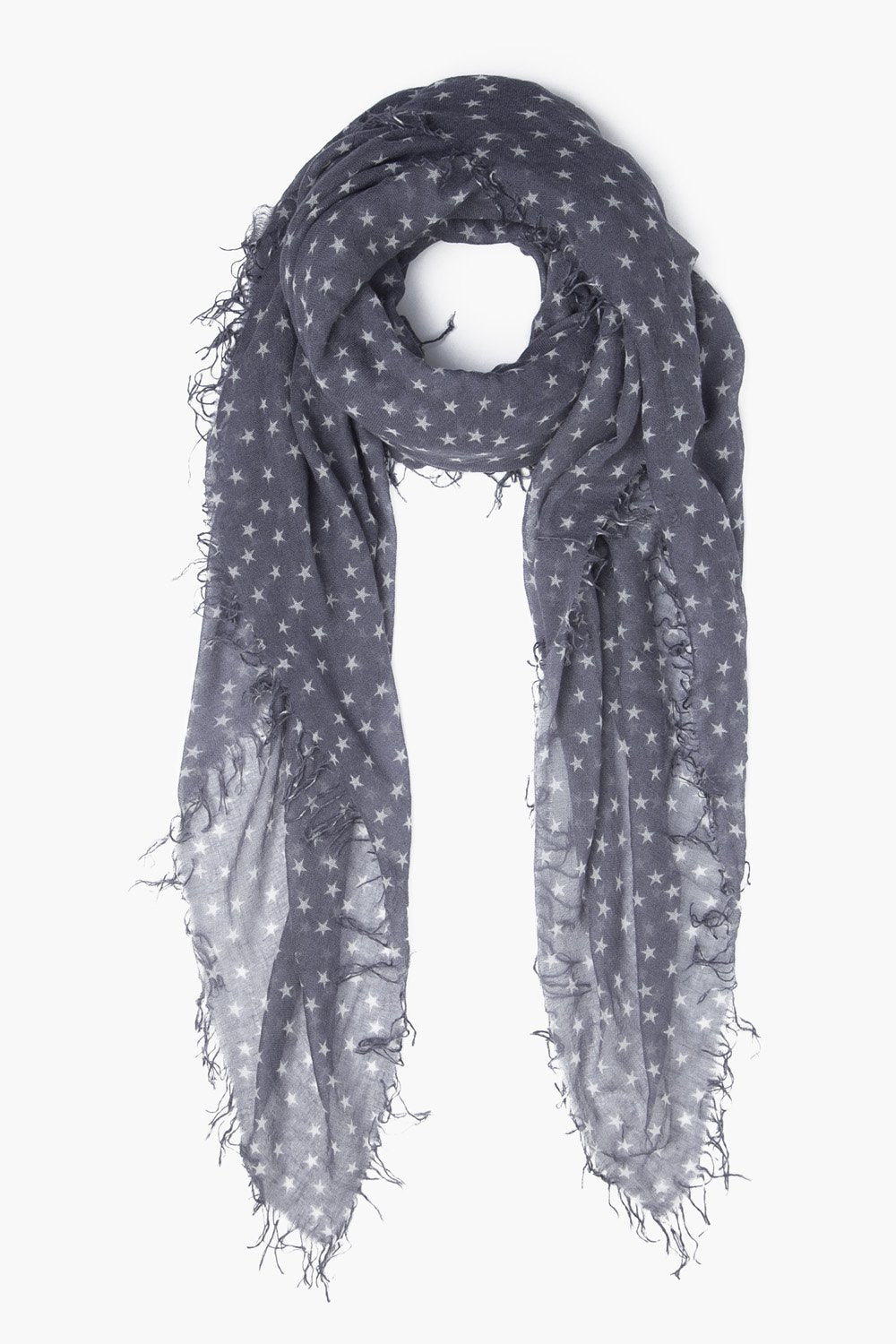 Tornado and White Stars Cashmere and Silk Scarf