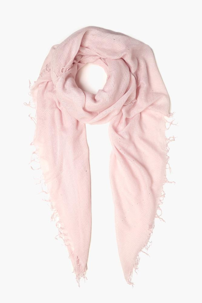 Mauve Chalk Scattered Sequins Cashmere and Silk Scarf