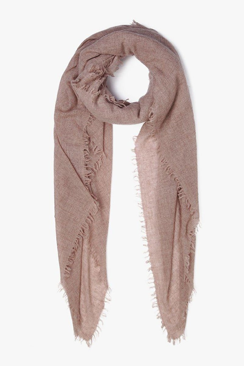 Heather Camel Cashmere Scarf