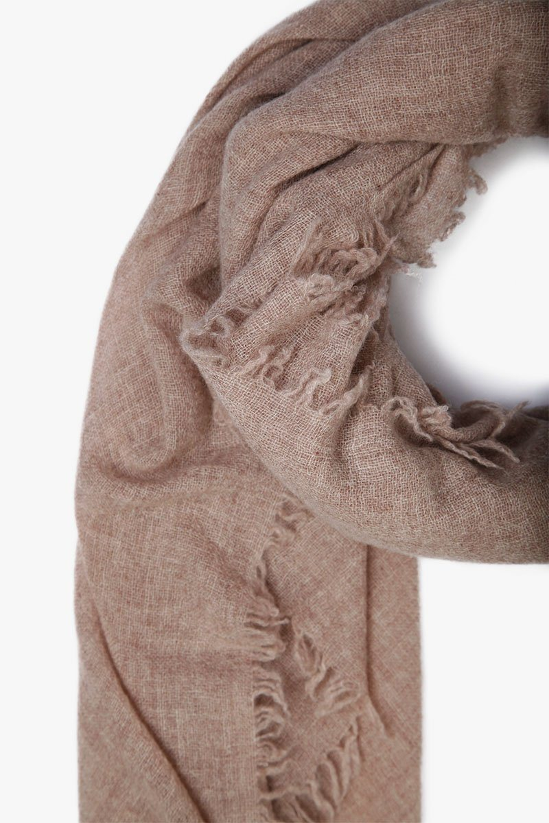 Heather Brown Cashmere Scarf