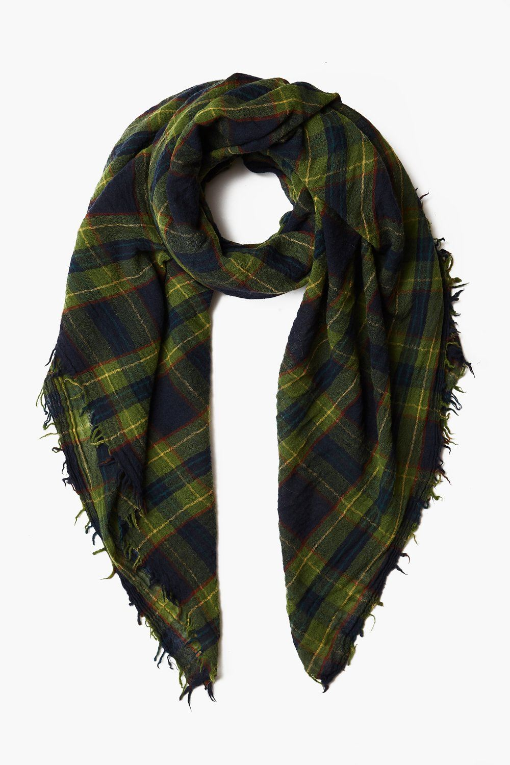 Total Eclipse Traditional Plaid Wool Scarf