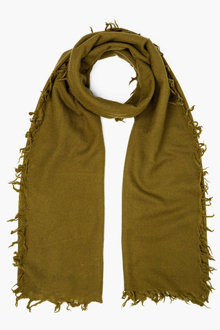 Fir Green Wool Scarf