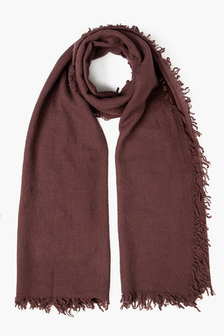 Puce Wool Scarf