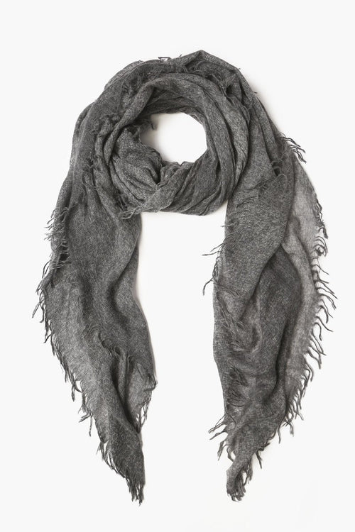 Black Heather Cashmere Scarf